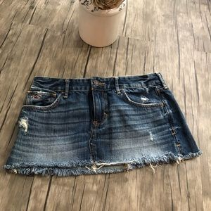 Hollister Jean Mini Skirt In Like new Condition
